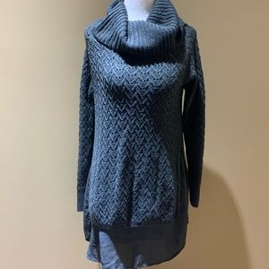 Rickis grey cozy double layer sweater